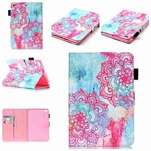 cheap iPad case-Case For Apple iPad Mini 5 / iPad New Air(2019) / iPad Mini 3/2/1 Wallet / Card Holder / Shockproof Full Body Cases Flower Hard PU Leather