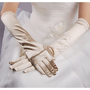 cheap Party Gloves-Terylene Elbow Length Glove Simple / Gloves With Solid