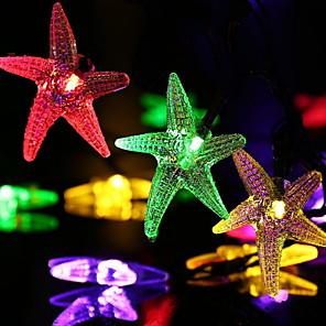 cheap LED String Lights-6.8m String Lights 30 LEDs 1 set Color-changing Solar Decorative Solar Powered