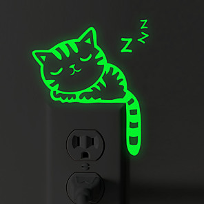 cheap Wall Stickers-Light Switch Stickers - Luminous Wall Stickers Animals Living Room / Bedroom / Bathroom
