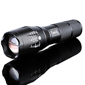 cheap Flashlights & Camping Lanterns-LED Flashlights / Torch Waterproof Rechargeable 3000 lm LED LED Emitters 5 Mode with Battery and Charger Waterproof Zoomable Rechargeable Adjustable Focus Super Light High Power Camping / Hiking