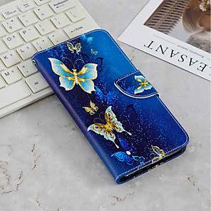 cheap iPhone Cases-Case For Samsung Galaxy S9 / S9 Plus / Galaxy S10 Wallet / Card Holder / with Stand Full Body Cases Butterfly Hard PU Leather