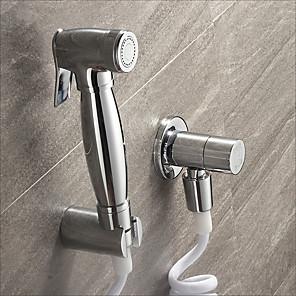 cheap Bidet Faucets-Bidet Faucet ChromeToilet Handheld bidet Sprayer Self-Cleaning Contemporary