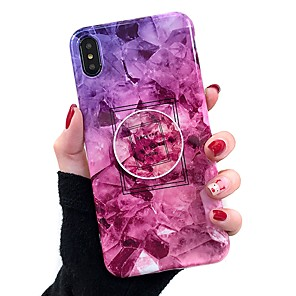 cheap iPhone Cases-Case For Apple iPhone 11 / iPhone 11 Pro / iPhone 11 Pro Max with Stand / IMD Back Cover Marble Soft TPU