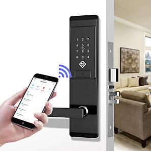 cheap Door Locks-PINEWORLD Q201 Smart Door Lock/Zinc Alloy lock/Password lock/Fingerprint Lock Smart Home Security iOS/Android System Password unlocking / Mechanical key unlocking/Anti peeping password