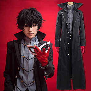 cheap Anime Costumes-Inspired by Persona 5 Joker Ren Amamiya / Akira Kurusu Anime Cosplay Costumes Japanese Cosplay Suits Solid Colored Coat Top Pants For Men's Women's / Gloves / More Accessories / Gloves
