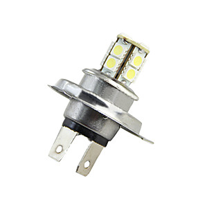 cheap Car DVR-H4 5050 13SMD Car White Yellow Red LED Fog Daytime Running Light Bulb