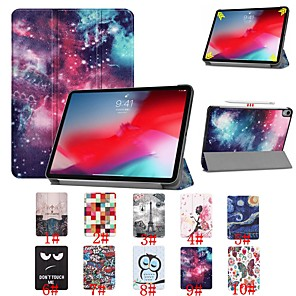 cheap iPad case-Case For Apple iPad Mini 5 / iPad New Air(2019) / iPad Pro 11'' Shockproof / Pattern / Magnetic Full Body Cases Scenery / Eiffel Tower / Owl Hard PU Leather