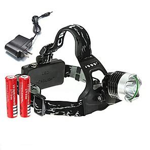preiswerte Taschenlampen-U'King Stirnlampen Fahrradlicht 2000 lm LED LED Sender 3 Beleuchtungsmodus inklusive Batterien und Ladegerät Kompakte Größe Hohe Kraft Einfach zu tragen Multifunktion Camping / Wandern / Erkundungen