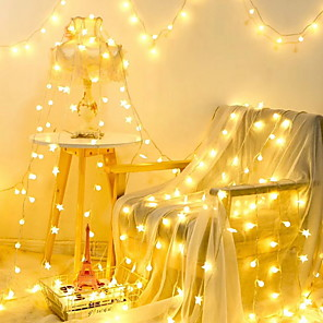 cheap LED String Lights-10m String Lights 100 LEDs 1 set Warm White Decorative 220-240 V