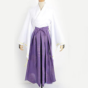 cheap Anime Costumes-Inspired by Touken Ranbu Cosplay Anime Cosplay Costumes Japanese Cosplay Suits Kimono Solid Colored Top Skirt More Accessories For Men's Women's / Kimono Coat / Kimono Coat