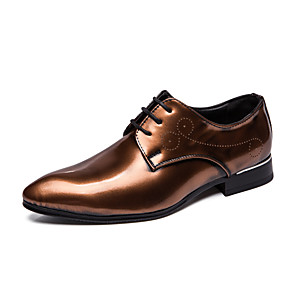 cheap Women's Boots-Men's Formal Shoes Microfiber Spring & Summer / Fall & Winter Business / Casual Oxfords Breathable Black / Gold / Burgundy