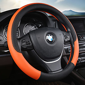 cheap Steering Wheel Covers-Car Steering Wheel Covers Leather 38cm Breathable Anti Slip Purple / Red / Blue For universal Four Seasons Auto Accessories
