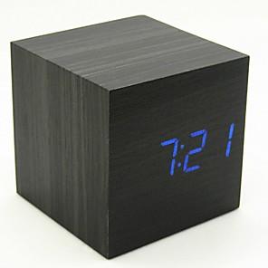 cheap Alarm Clocks-Alarm clock Digital Wooden LED 1 pcs