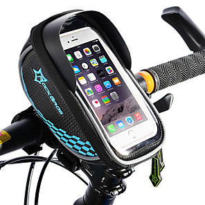 cheap Bike Handlebar Bags-ROCKBROS Cell Phone Bag Bike Frame Bag Top Tube Bike Handlebar Bag Touch Screen Reflective Waterproof Bike Bag TPU EVA Polyster Bicycle Bag Cycle Bag iPhone X / iPhone XR / iPhone XS Road Bike