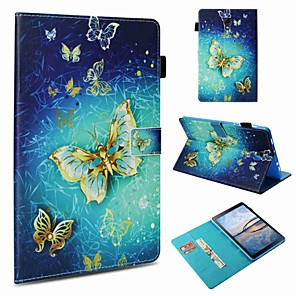 cheap Samsung Case-Case For Samsung Galaxy Tab S4 10.5 (2018) / Tab S2 9.7 / Tab A 9.7 Card Holder / Shockproof / Pattern Full Body Cases Butterfly Hard PU Leather