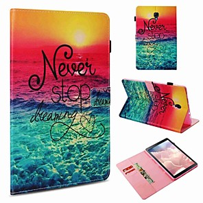 cheap Samsung Case-Case For Samsung Galaxy Tab S4 10.5 (2018) / Tab S2 9.7 / Tab A 9.7 Card Holder / Shockproof / Pattern Full Body Cases Word / Phrase Hard PU Leather