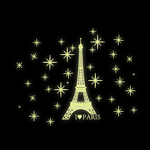 cheap Wall Stickers-Decorative Wall Stickers - Plane Wall Stickers / Luminous Wall Stickers Scenic / Shapes Living Room / Bedroom / Bathroom