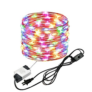 cheap LED String Lights-10M 33Ft 100leds Waterproof Copper Wire lights Fairy String EU US Plug with Switch Direct use AC85-265V