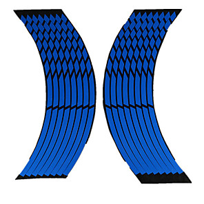 cheap Car Body Decoration & Protection-Car Tyre Rim Stickers Tire Protection Decoration Automobile Rim Wheel Stickers Protector Decors Car-styling 8 Strips