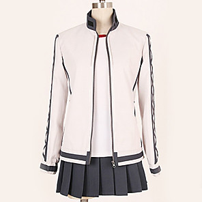 cheap Anime Costumes-Inspired by Kantai Collection Cosplay Anime Cosplay Costumes Japanese Cosplay Suits Contemporary Blouse Top Skirt For Men's Women's / T-shirt / T-shirt
