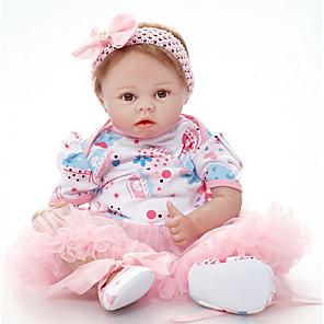 お買い得  リボーンドール-FeelWind 22 インチ リボーンドール ガールドール 赤ちゃん(女) 生まれ変わった赤ちゃん人形 生き生きとした 手作り キュート 子供 無毒 布 3/4シリコン・リムおよびコットン・フィルド・ボディ 服とアクセサリー付き 少女の誕生日やお祭りの贈り物 / 写真と同じものをお送りするように心がけておりますが、人形の服が売り切れの場合は同様の服をお送りいたします.