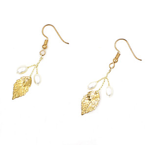 cheap Earrings-Women's Drop Earrings Braided Earrings Jewelry Gold / Silver For Wedding Party Festival 1 Pair