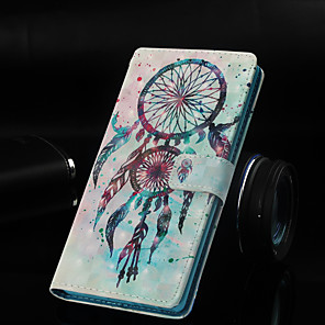 cheap Samsung Case-Case For Samsung Galaxy Galaxy S10 / Galaxy S10 Plus / Galaxy S10 E Wallet / Card Holder / with Stand Full Body Cases Dream Catcher Hard PU Leather