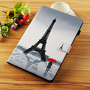 cheap iPad case-Case For Apple iPad Mini 5 / iPad New Air(2019) / iPad Air Wallet / Card Holder / with Stand Full Body Cases Eiffel Tower Hard PU Leather / iPad Pro 10.5 / iPad (2017)