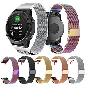 cheap Smartwatch Bands-Watch Band for Fenix 5s / Fenix 5s Quickfit Garmin Milanese Loop Stainless Steel Wrist Strap
