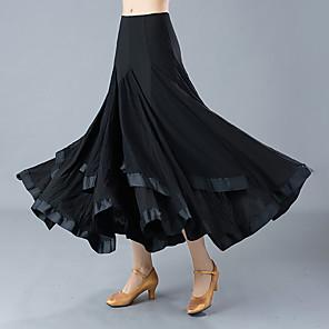 cheap Ballroom Dancewear-Ballroom Dance Skirts Ruching Women's Training Performance High Polyester