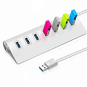 cheap USB Hubs & Switches-USB 3.0 to USB 3.0 USB Hub 7 Ports High Speed