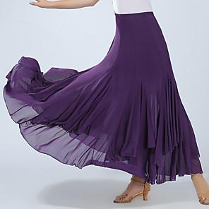 cheap Latin Dancewear-Ballroom Dance Skirts Ruching Women's Training Performance High Spandex