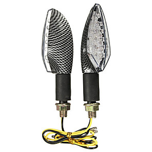 cheap Motorcycle Lighting-2pcs Wire Connection Motorcycle Light Bulbs 15 LED Turn Signal Lights For Suzuki / Honda / BMW All years