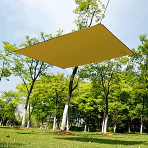 cheap Sleeping Bags & Camp Bedding-Hewolf Picnic Pad Tent Tarps Hammock Rain Fly Outdoor Portable Lightweight Sunscreen Rain Waterproof Oxford Cloth Camping / Hiking Climbing All Seasons Khaki