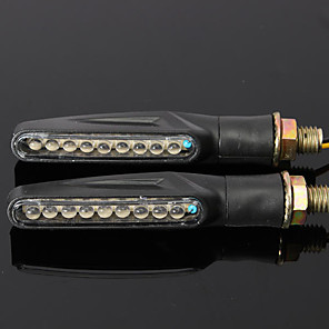 cheap Motorcycle Lighting-2pcs Wire Connection Motorcycle Light Bulbs 9 LED Turn Signal Lights For Motorcycles All Models All years
