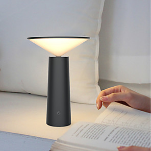 cheap Table Lamps-Table Lamp Eye Protection / Adjustable / LED Artistic / Simple Built-in Li-Battery Powered For Study Room / Office / Office DC 5V White / Black