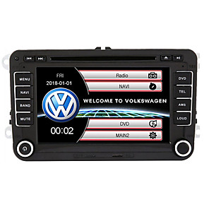cheap Exhaust Systems-520WGNR04 7 inch 2 DIN Windows system In-Dash Car DVD Player Touch Screen Built-in Bluetooth for Volkswagen Support RDS / GPS / Steering Wheel Control / Subwoofer Output / Games / TF / USB