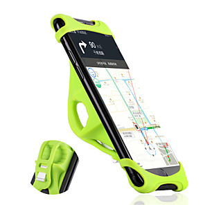 cheap Phone Mounts & Holders-WEST BIKING® Bike Phone Mount Portable Skidproof Easy to Install for Road Bike Mountain Bike MTB Silicone Aluminum Alloy iPhone X iPhone XS iPhone XR Cycling Bicycle Black Orange Green