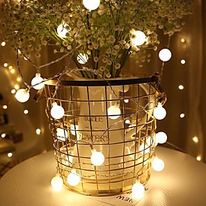 cheap LED String Lights-Holiday Light Chain Ball LED String Lighting6M USB Lamp Bulb Light String Waterproof Outdoor Wedding Christmas Led String