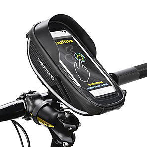cheap Bike Frame Bags-PROMEND Cell Phone Bag Bike Handlebar Bag 6 inch Touch Screen Reflective Strips Cycling for Cycling iPhone X iPhone XR Black Cycling / Bike Bike / Cycling / iPhone XS / iPhone XS Max