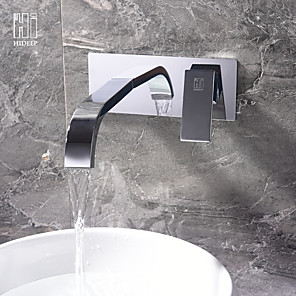 cheap Hand Shower-Bathroom Sink Faucet - Widespread Chrome Other Single Handle Two HolesBath Taps