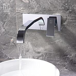povoljno Tuš s kišnim mlazom-Kupaonica Sudoper pipa - Slavine s tri otvora Chrome Ostalo Jedan obrađuju dvije rupeBath Taps
