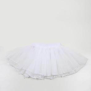 cheap Historical & Vintage Costumes-Ballet Tutu Bubble Skirt Under Skirt 1950s Layered White Petticoat / Kid's / Crinoline