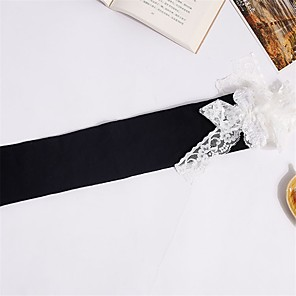 cheap Women's Heels-Maid Costume Cosplay Women's Adults' Princess Lolita Tights Girly Socks / Long Stockings Maid Suits Thigh High Socks White Black White Cat Cotton Lolita Accessories / High Elasticity