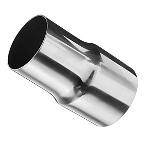 cheap Exhaust Systems-1 Piece 60/51 mm Automotive exhaust parts Unbent Stainless steel Exhaust Mufflers For universal All Models All years