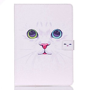 cheap iPad case-Case For Apple iPad Mini 5 / iPad New Air(2019) / iPad Mini 3/2/1 Wallet / Card Holder / with Stand Full Body Cases Cat Hard PU Leather