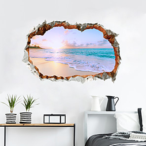 cheap Wall Stickers-Decorative Wall Stickers - 3D Wall Stickers Landscape / 3D Living Room / Bedroom / Kitchen