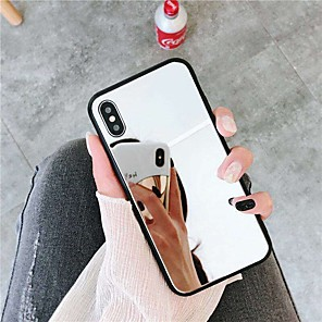 cheap iPhone Cases-Case For Apple iPhone XS / iPhone XR / iPhone XS Max Mirror Back Cover Solid Colored Hard Acrylic