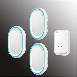 cheap Doorbell Systems-Wireless One to Three Doorbell Music / Ding dong Non-visual doorbell Surface Mounted